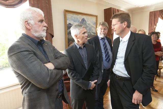 Gylfi Arnbjörnsson, forseti ASÍ, Ólafur Darri Andrason, hagfræðingur ASÍ, Páll ...