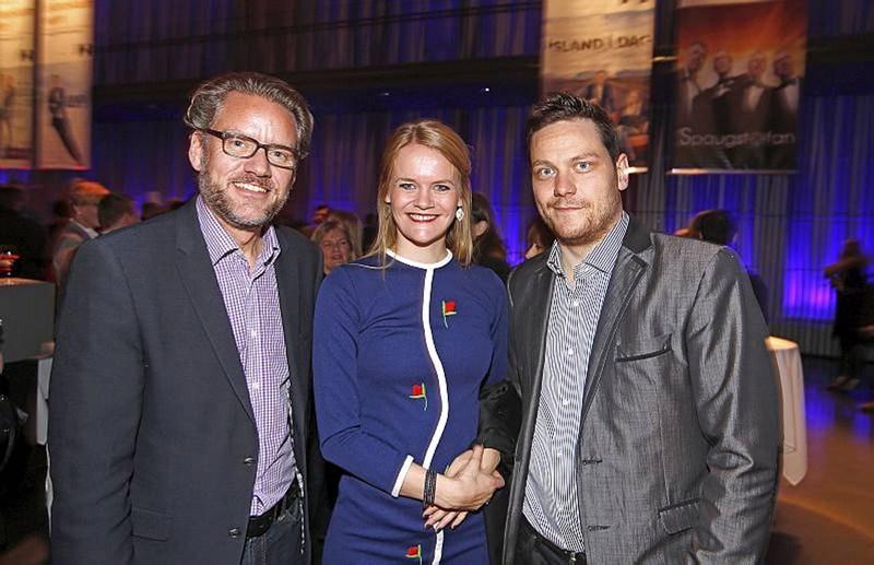 Ólafur Þ. Stephensen, Birta Björnsdóttir og Gísli Berg.