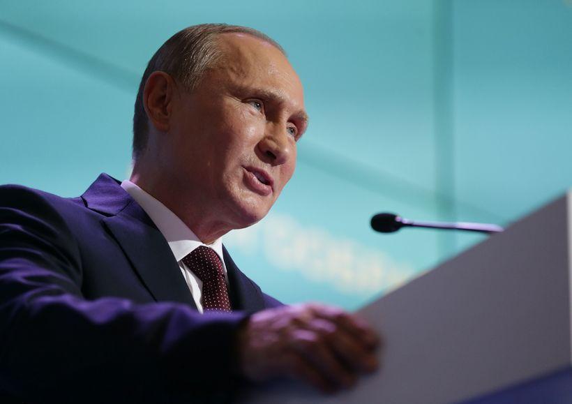 Vladimir Putin á ráðstefnunni í Valdai