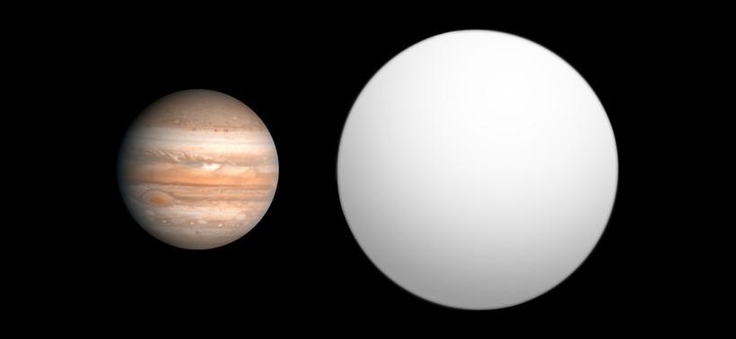 Júpiter og WASP-17b.