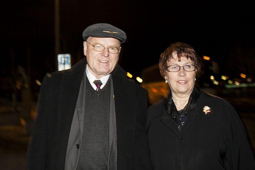 Ómar Ragnarsson og Helga Jóhannsdóttir.