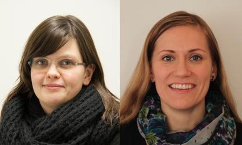 Eva Rún Michelsen og Erla Ósk Pétursdóttir.