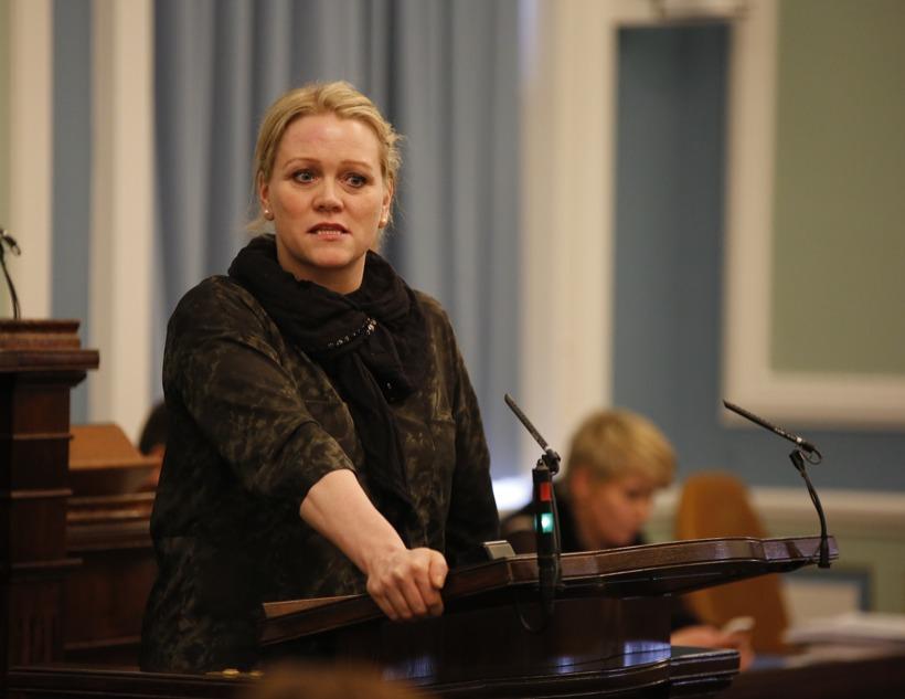 Katrín Júlíusdóttir, þingmaður Samfylkingarinnar, á Alþingi.