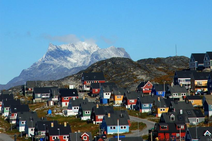 Frá Nuuk, höfuðborg Grænlands.