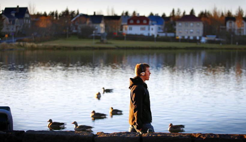 Lake Tjörnin.