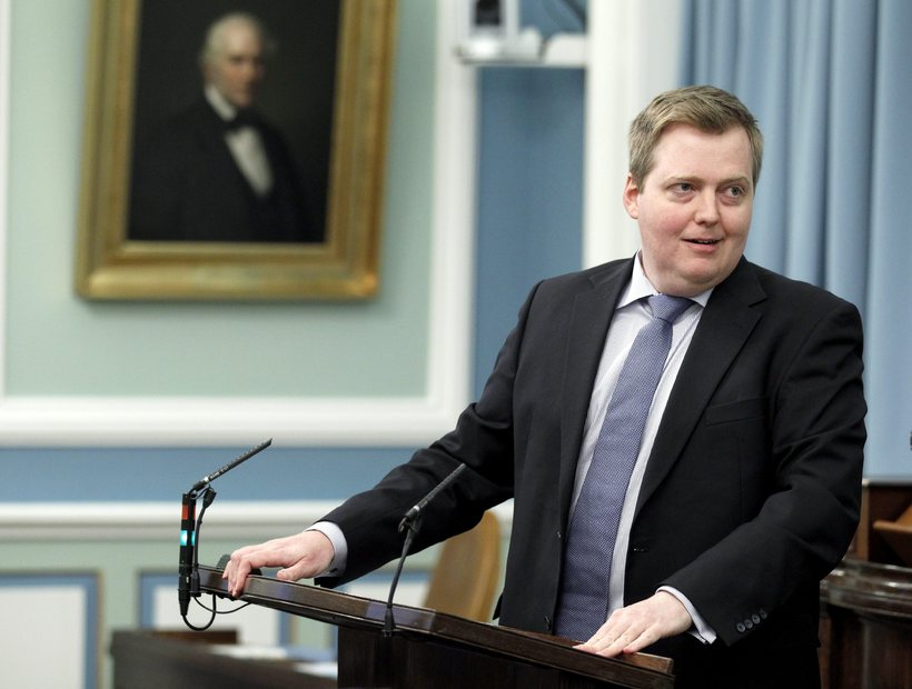 Sigmundur Davíð Gunnlaugsson forsætisráðherra.