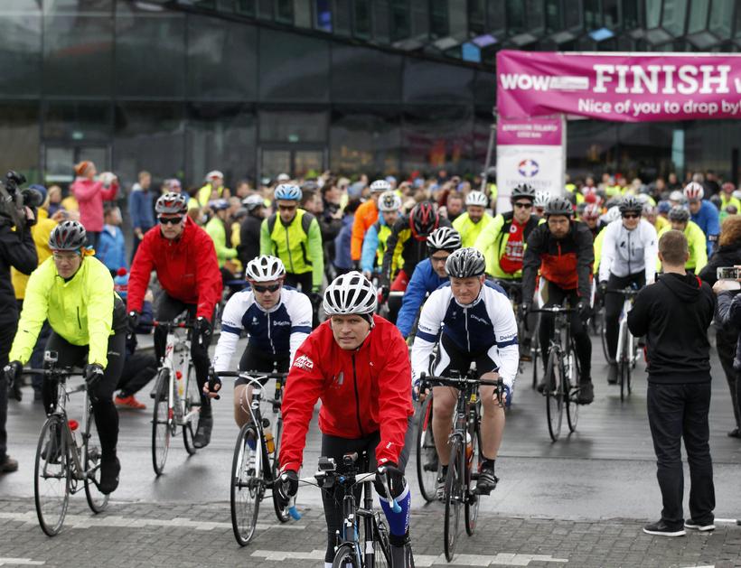 Frá WOW Cyclothon árið 2014.