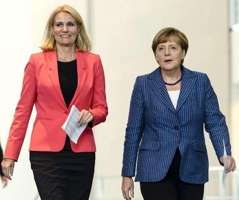 Helle Thorning-Schmidt og Angela Merkel.