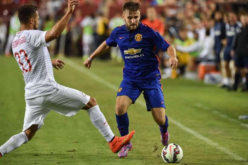 Luke Shaw í leik gegn Inter í gær.
