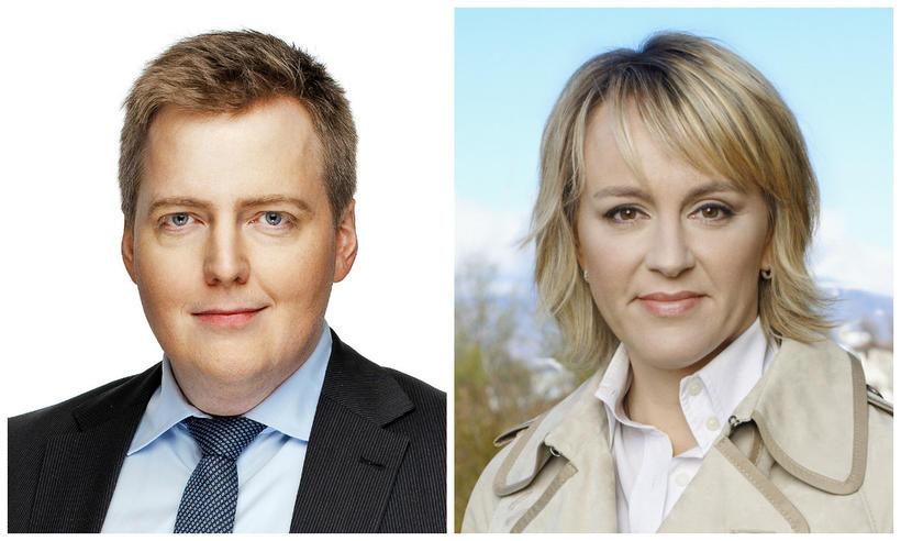 Sigmundur Davíð Gunnlaugsson og Hanna Birna Kristjánsdóttir.