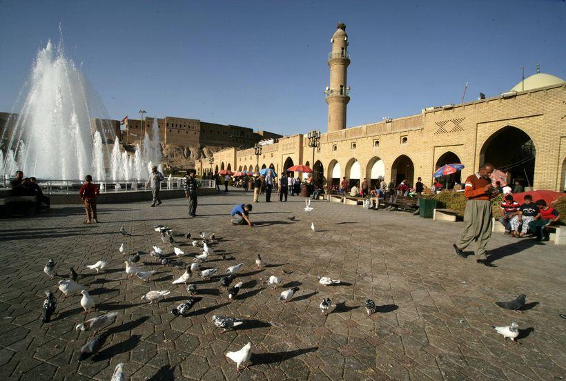 Frá Erbil í Kúrdistan í Írak