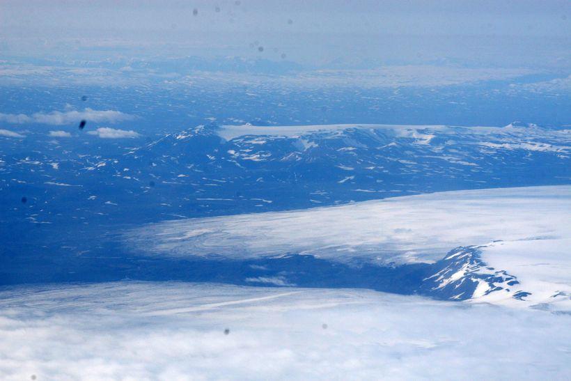 Horft yfir norðvestanverðan Vatnajökul þar sem Bárðarbunga er.