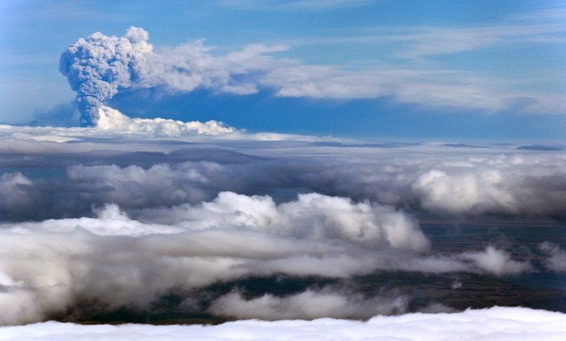 Gos hófst í Eyjafjallajökli 2010.
