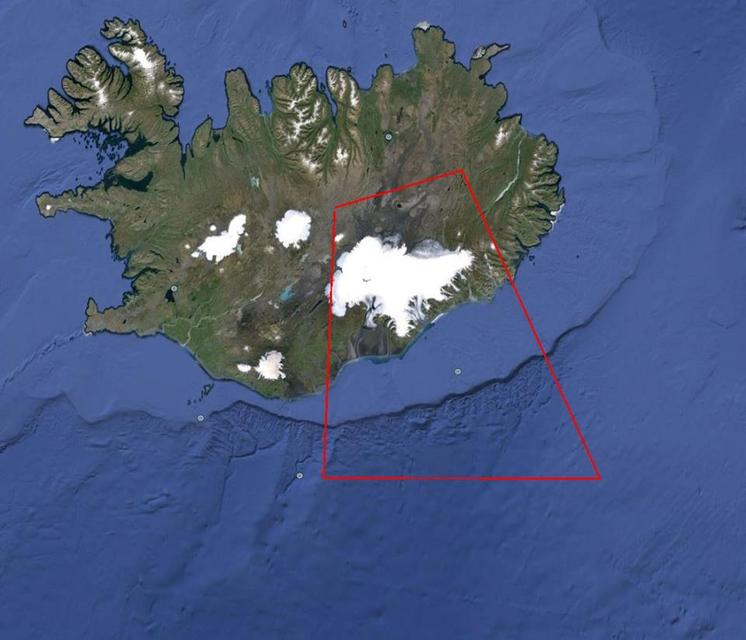 The no-fly zone over Dyngjujökull.