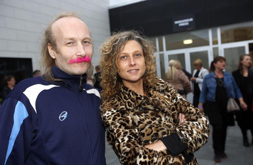 Hunk of a man og Carmen Jóhannsdóttir.