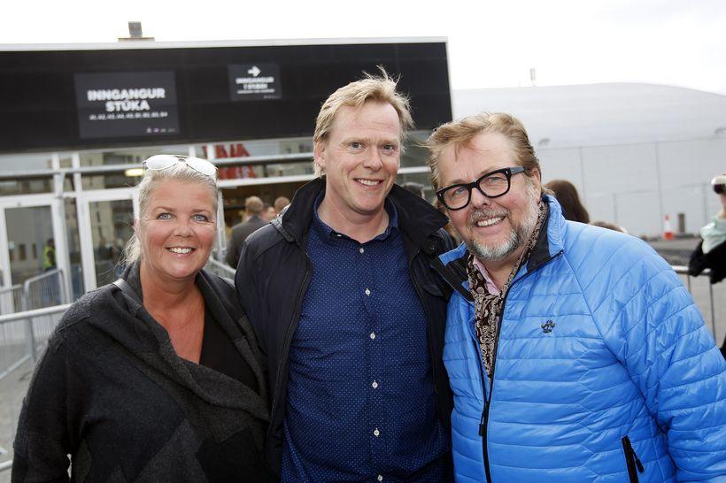 Anna Björk Birgisdóttir, Stefán Hilmarsson og Björgvin Halldórsson.