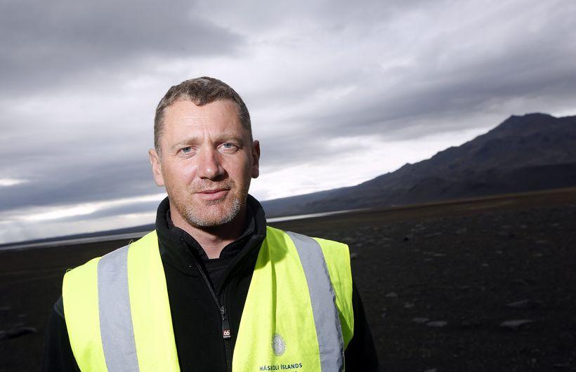 Sveinbjörn Steinþórsson, tæknimaður frá Jarðvísindastofnun Háskóla Ísland.