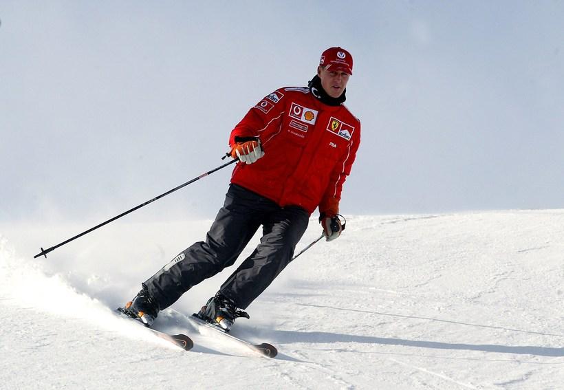 Michael Schumacher á skíðum.