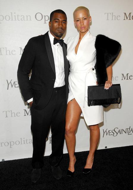 Kanye West og Amber Rose voru eitt sinn par.