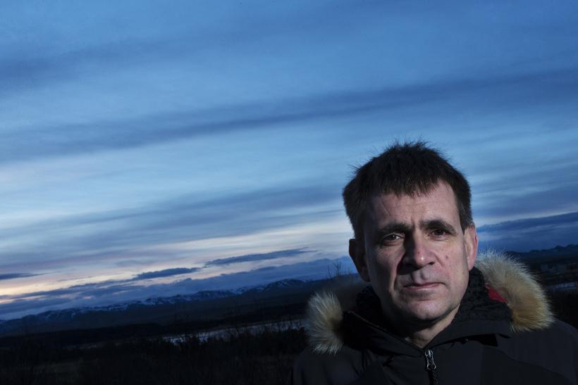 Einar Torfi Finnsson fjallaleiðsögumaður er að fara með þriggja manna ...