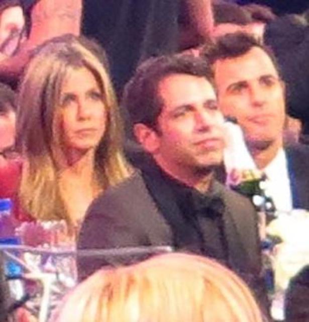 Jennifer aniston mætti ásamt unnusta sínum, Justin Theroux, á Critics' ...