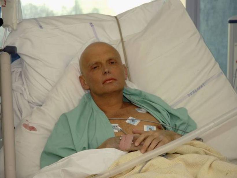 Alexander Litvinenko á sjúkrahúsinu eftir að áhrif eitrunarinnar fóru að ...
