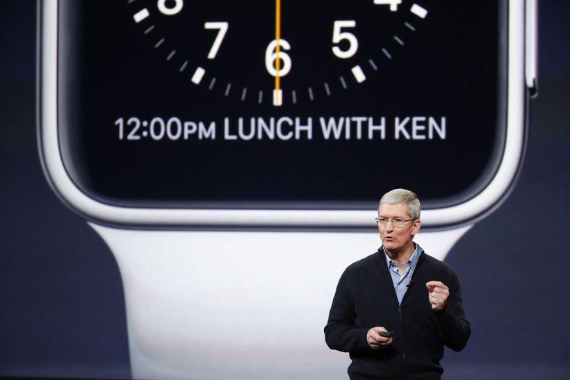 Forstjóri Apple, Tim Cook.