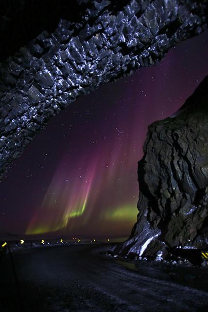 Þessi fallega mynd var tekin í Skutulsfirði í gærkvöldi.