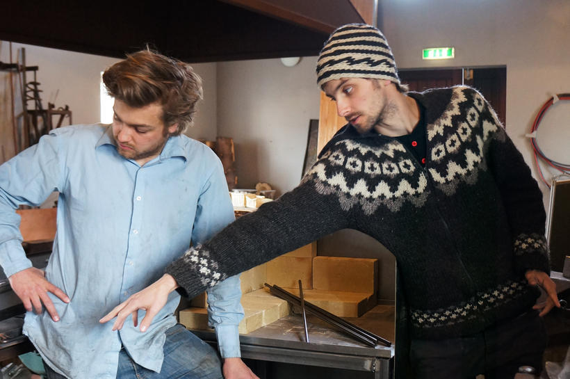 Brothers Vífill and Ýmir Eiriíksson are putting the final touches ...