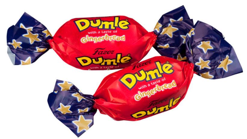 Berglind notaði Dumle-karamellur í kökuna sína.