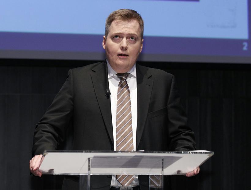 Icelandic PM, Sigmundur Davíð Gunnlaugsson.