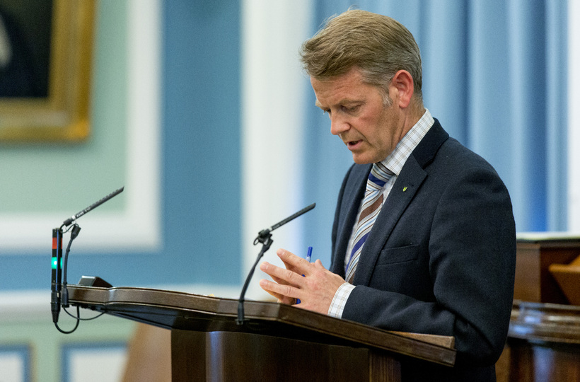 Frosti Sigurjónsson, alþingismaður, hefur gagnrýnt byggingu nýrra höfuðstöðva á þessum ...