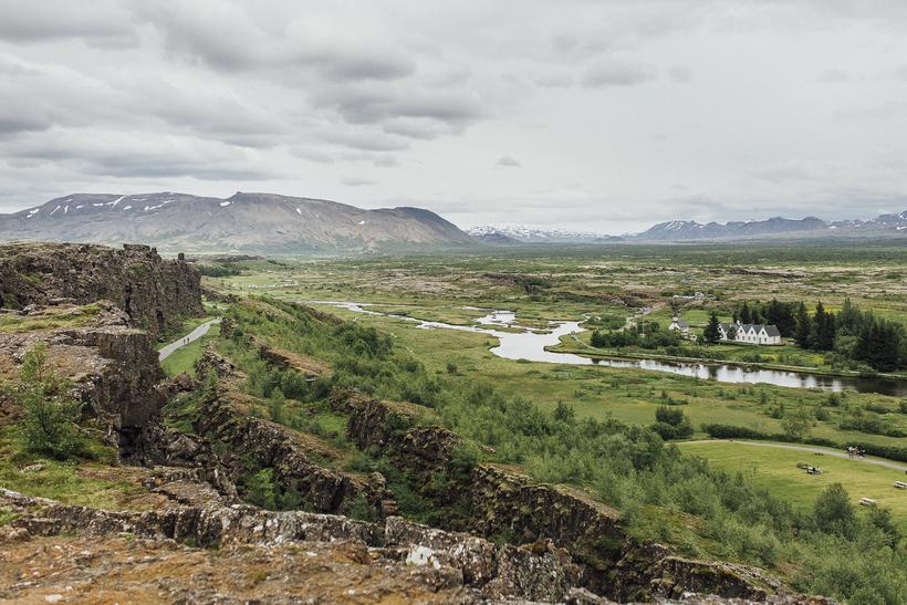 Þingvellir, the site of the ancient Alþingi.