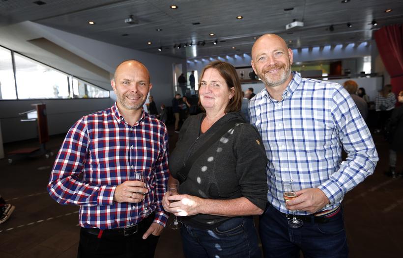 Baldur Þórhallsson, Carla Kogelman og Felix Bergsson