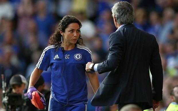 Eva Carneiro og José Mourinho.