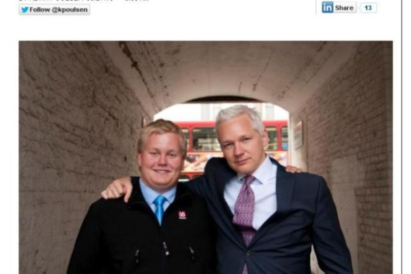 "Siggi ""The Hacker"" pictured with Julian Assange whom he later ..."