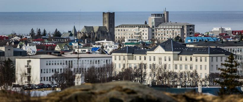 Ein bygginga Landspítalans við Hringbraut.