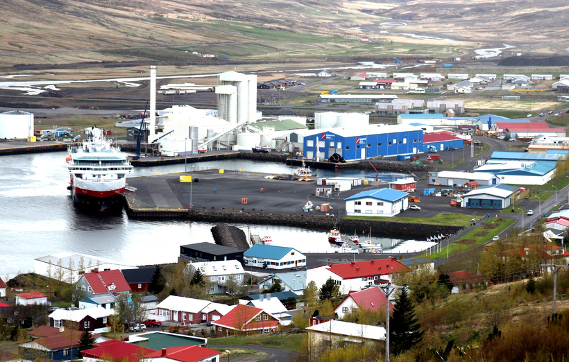 Eskifjörður, one of the fishing towns most heavily affected.