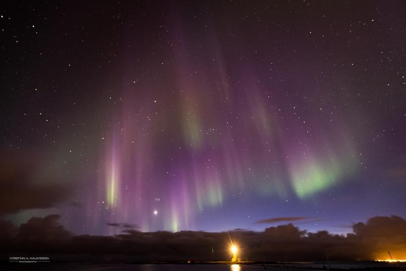 Northern Lights extravangaza over Seltjarnarnes last night.