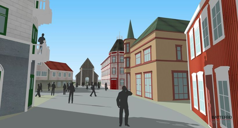 An artist's impression of the new town centre.