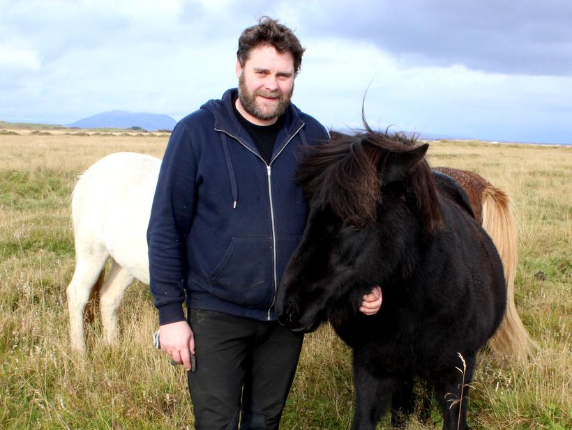 Hrafnkell Guðnason keeps horses at Glóra, near Selfoss.