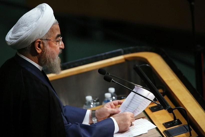 Hassan Rouhani flutti erindi í fyrsta sinn frá því kjarnorkusamningurinn ...
