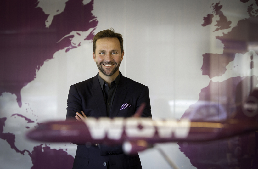 Director of WOW air, Skúli Mogensen.