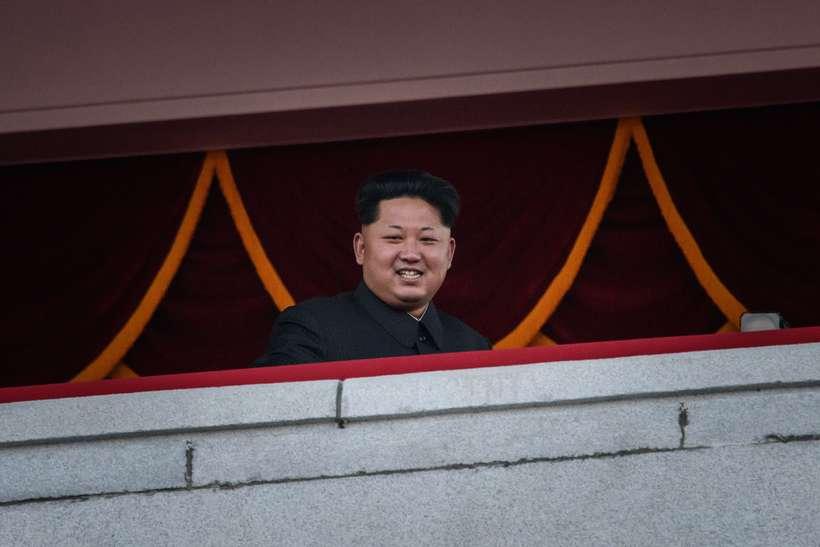Kim Jong-Un var sáttur með sitt fólk.