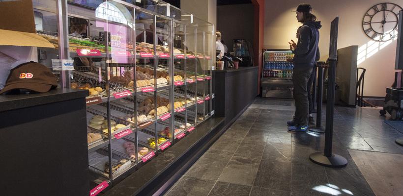 Frá Dunkin' Donuts á Laugavegi.