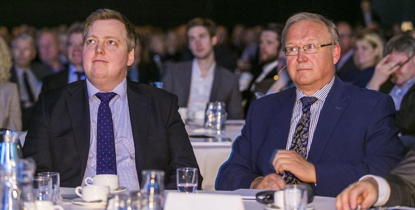 Sigmundur Davíð Gunnlaugsson og Göran Persson voru ræðumenn á aðalfundi ...
