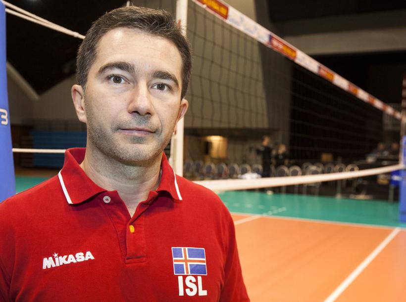 Daniele Capriotti, landsliðsþjálfari kvenna í blaki.