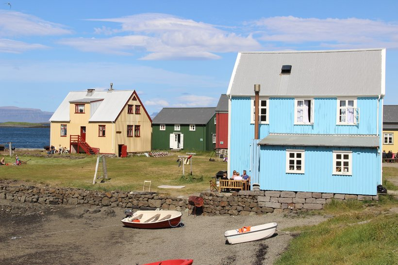 The coloured houses of Flatey.