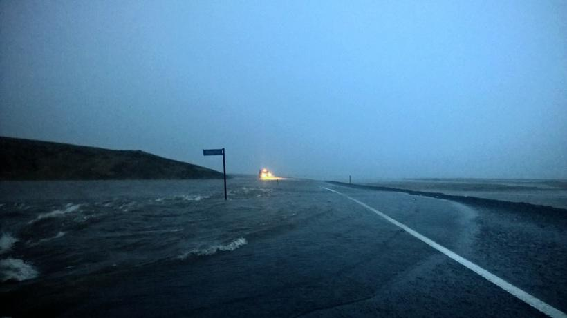 The road leading to Fáskrúðsfjörður, one of the towns in ...