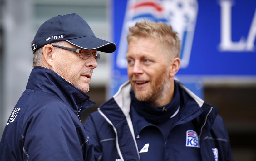 Lars Lagerbäck og Heimir Hallgrímsson eru miklir vinir.